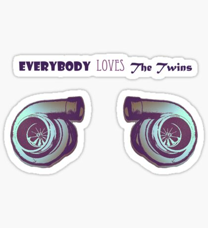 Everybody loves the Twins! Sticker