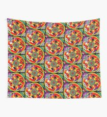 Tribal Sun Dial Wall Tapestry