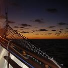 sun set on board the one and all by sharon wingard