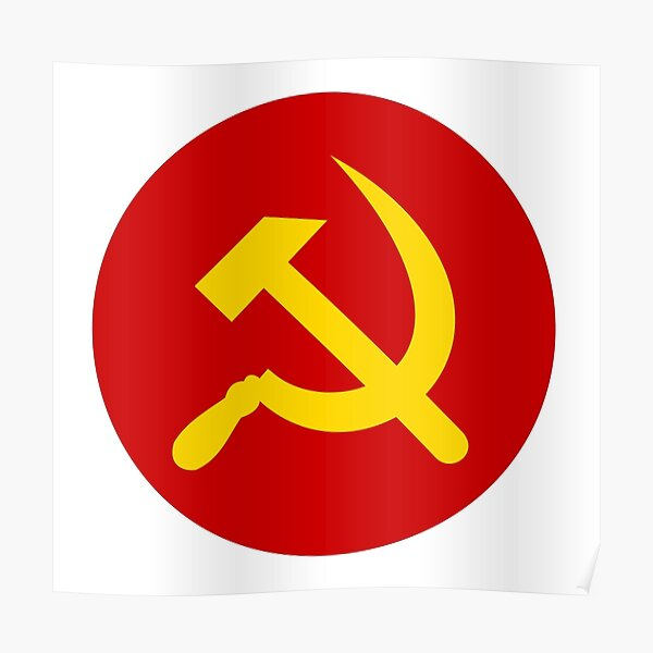 Hammer and Sickle in circle Poster