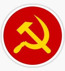 Hammer and Sickle in circle Sticker