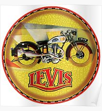 LEVIS Vintage Motorcycles Poster