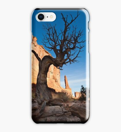 Old Tree and redrock cliffs iPhone Case/Skin