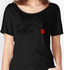 Japanese snow mountain scene Women's Relaxed Fit T-Shirt