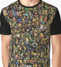 Simpsons style characters Graphic T-Shirt