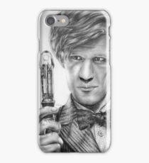 Matt Smith Portrait - 11th Doctor iPhone Case/Skin
