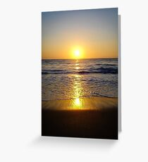 Warm Sunset Greeting Card