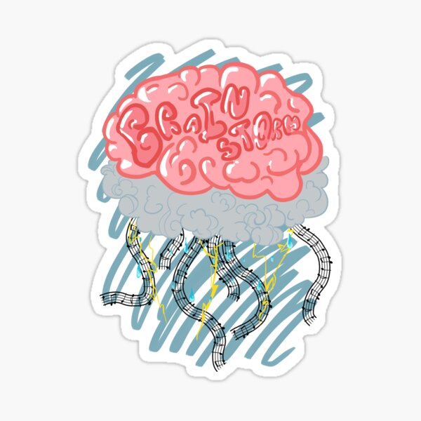 """""""Brain Storm"""" - Design 2 Sticker"""