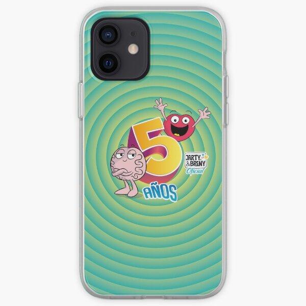 Cinco años - JB - celeste Funda blanda para iPhone