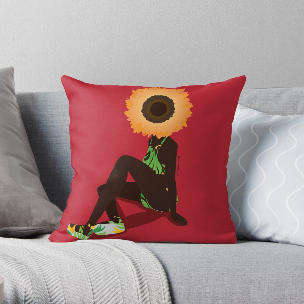 Mother Nature - Young Throw Pillow