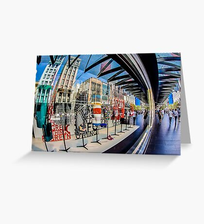 Abstract on Bourke Greeting Card