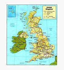UNITED KINGDOM (MAP) Photographic Print