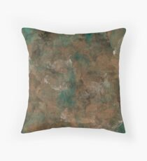 Patina Copper Throw Pillow