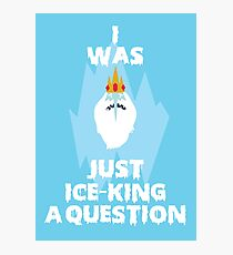 Adventure Time Ice King Photographic Print