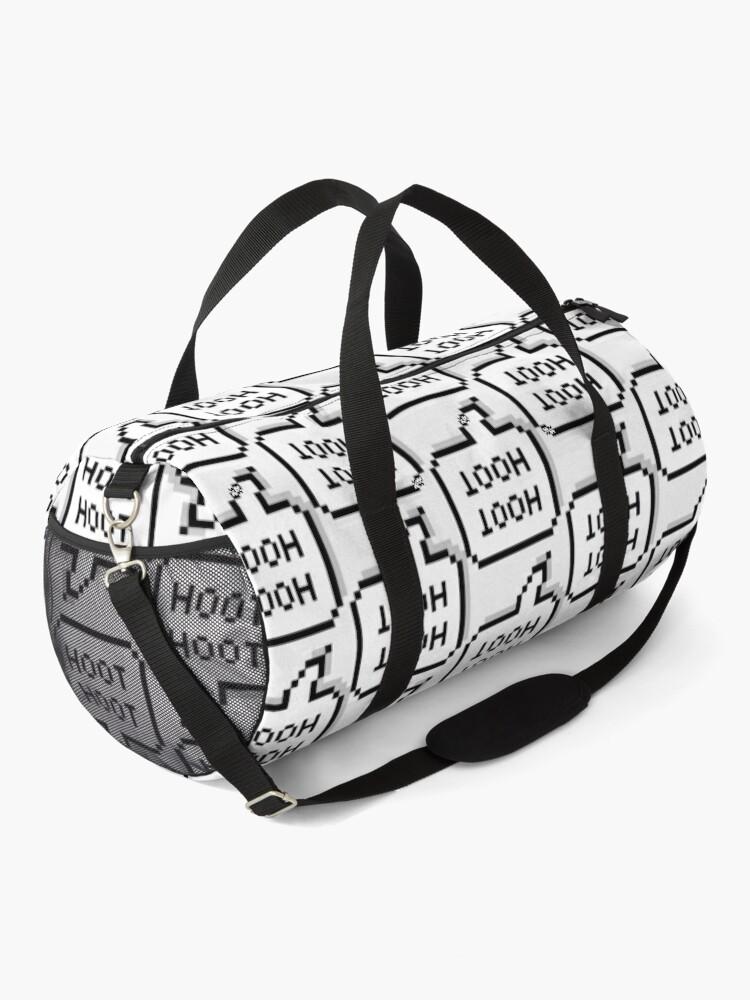 "Alternate view of OWL HOUSE Hooty ""Hoot Hoot""  Perfect Gift   Owl house gift Duffle Bag"