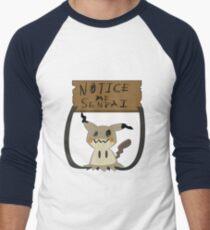 Mimikyu - Notice me senpai Men's Baseball ¾ T-Shirt