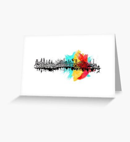 Long City Greeting Card