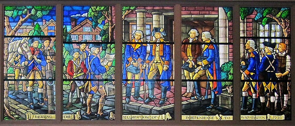 Stain Glass Window at Mount Vernon by Bine