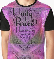 Harmony Serenity Unity Peace Graphic T-Shirt