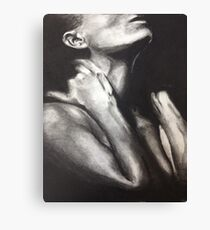 Black and White Woman Canvas Print
