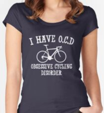 I have OCD - Obsessive cycling disorder Women's Fitted Scoop T-Shirt