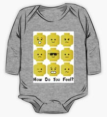 'How Do You Feel?' by Customize My Minifig  One Piece - Long Sleeve