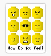 'How Do You Feel?' by Customize My Minifig  Sticker