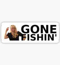 GONE FISHIN' - Kate McKinnon (Bumper Sticker) Sticker