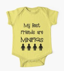 My Best Friends are Minifigs  One Piece - Short Sleeve