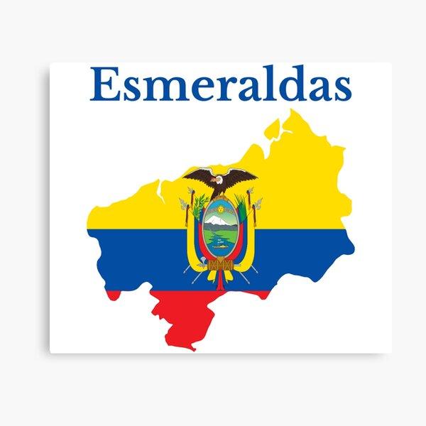 Esmeraldas Province Map Design, Ecuador Canvas Print