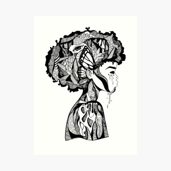 Beautiful Mind | Abstract Afro Art | Afrocentric Art Print