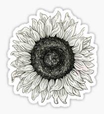 Line Sunflower Sticker