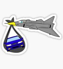 Saab Born From Jets Sticker