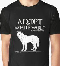 Adopt a white wolf. Graphic T-Shirt
