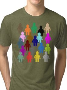 United Colors of Minifig [Large]  Tri-blend T-Shirt