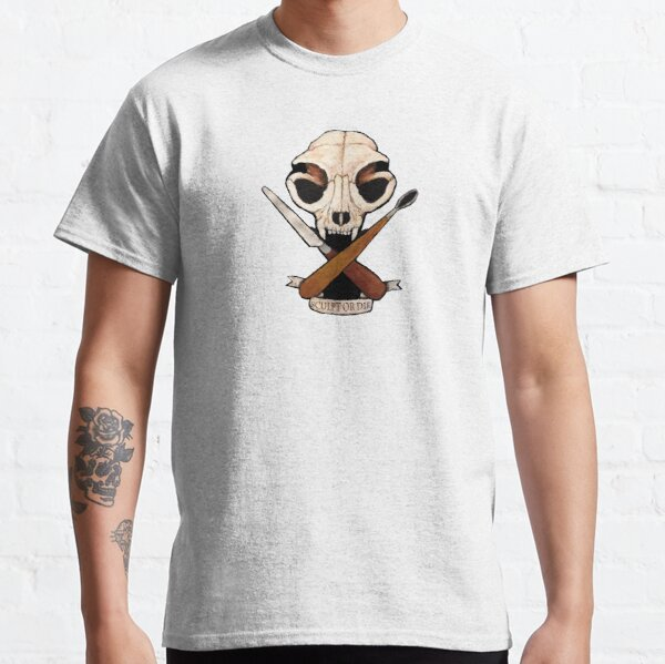 Sculpt or Die Cat Skull Jolly Roger  Classic T-Shirt