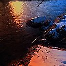 Winter evening down by the river | landscape photography by Patrick Jobst