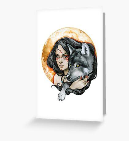 - Wolf Moon - Greeting Card