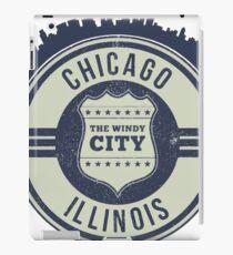 Chicago The Windy City Skyline Stamp iPad Case/Skin