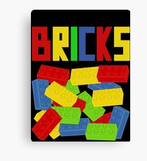 Colored Bricks [Large] by Customize My Minifig Canvas Print