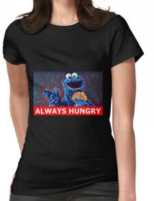Cookie Monster Always Hungry Womens Fitted T-Shirt