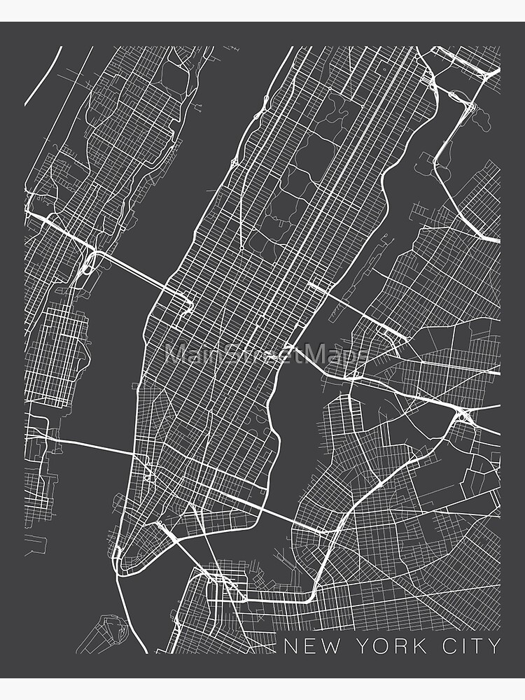 New York City, Map - Gray by MainStreetMaps