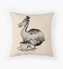 Teatime for Sir Dodo Throw Pillow