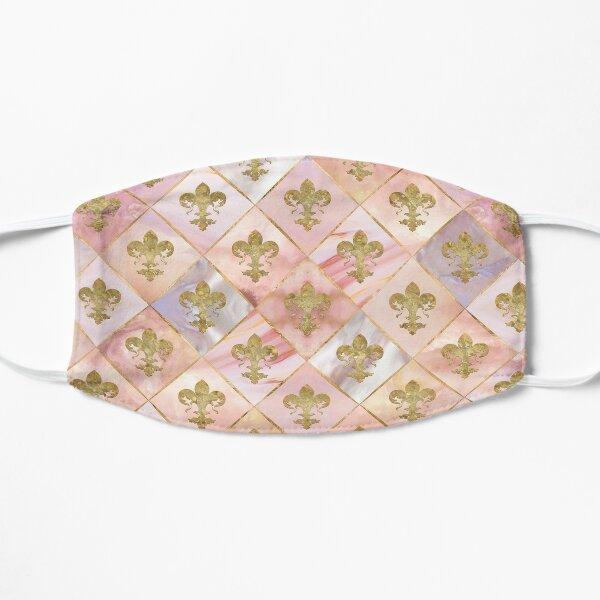 Motif Fleur de Lys Pastel Quartz Masque sans plis