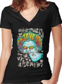 steve brule Women's Fitted V-Neck T-Shirt