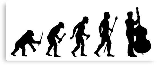 Lienzos «Silueta de evolución de bajo doble» de