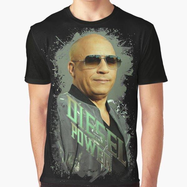 Vin Diesel / Hochwertiger digitaler Kunstdruck - 117211200 Grafik T-Shirt