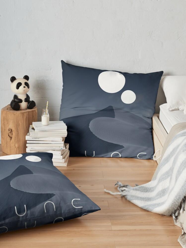 Alternate view of Dune Black Pearl Art Floor Pillow