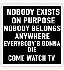 Come Watch TV Sticker