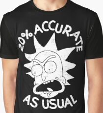 Rick and Morty 20% accurate as Usual Graphic T-Shirt
